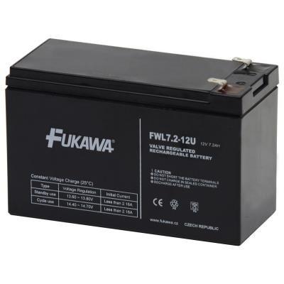 FUKAWA olověná baterie FWL 7,2-12 F2 do UPS APC/ AEG/ EATON/ Powerware/ 12V/ 7,2Ah/ životnost 10 let/ Faston F2-6,3mm