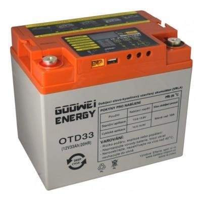 Baterie GOOWEI ENERGY DEEP CYCLE (GEL), 33Ah, 12V