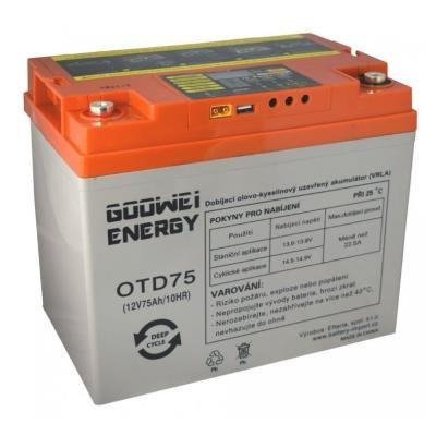 Baterie GOOWEI ENERGY DEEP CYCLE (GEL), 75Ah, 12V