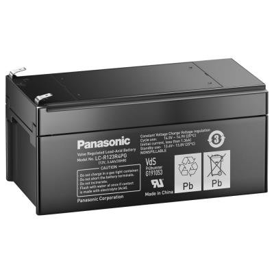 PANASONIC olověná baterie LC-R123R4PG do APC/ AEG/ Eaton/ Powerware/ 12V/ 3,4Ah/ životnost 6-9 let/ Faston F1-4,7mm