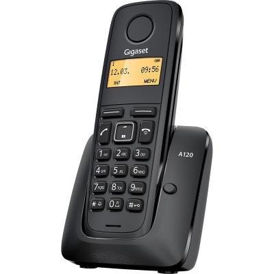 SIEMENS GIGASET A120 - DECT/GAP bezdrátový telefon, barva černá