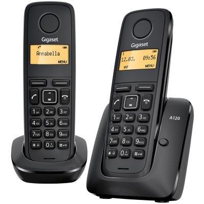 Bezdrátový telefon Siemens GIGASET A120-DUO černý