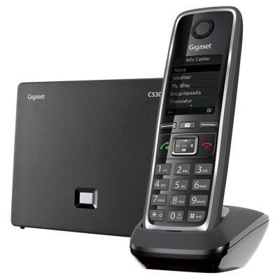 SIEMENS GIGASET C530 IP - bezdrátový IP telefon, barva černá