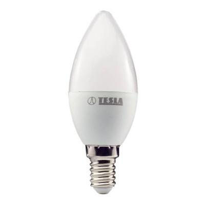 TESLA LED žárovka CANDLE svíčka/ E14/ 5W/ 230V/ 400lm/ 3000K/ teplá bílá