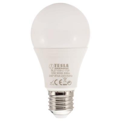 POŠKOZENÝ OBAL - TESLA LED žárovka BULB/ E27/ 10W/ 230V/ 806lm/ 3000K/ teplá bílá