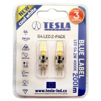 LED žárovka TESLA G4 2W 2ks