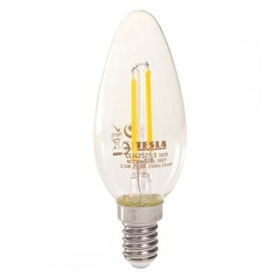 LED žárovka TESLA CRYSTAL RETRO CANDLE E14 2,5W