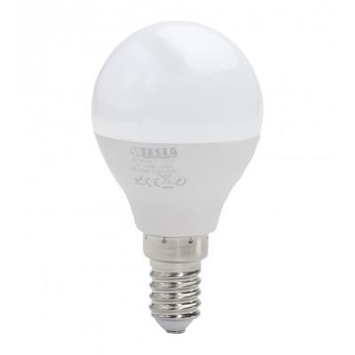 TESLA LED žárovka miniglobe BULB/ E14/ 3W/ 230V/ 250lm/ 4000K/ denní bílá