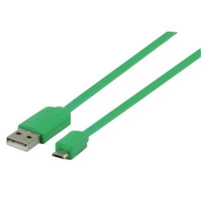 Kabel Valueline USB 2.0 typ A na micro B 1m zelený