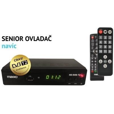 Maxxo HD DVB-T2 + Senior ovladač