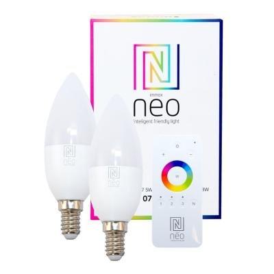 LED žárovka IMMAX Neo E14 5W RGB 2ks