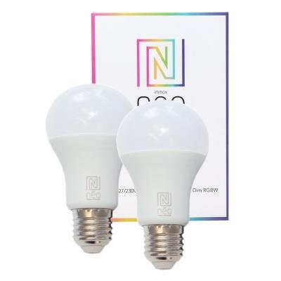 LED žárovka IMMAX Neo E27 8,5W RGB 2ks